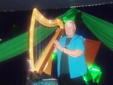 This year, Auntie Molly entertained us with her St.Patrick's Day Concert.  She  then introduced Shannon Bacall,  who entertained us with some Irish songs and ballads and also played the fiddle and the Irish  harp.