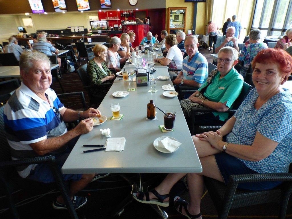 Lunch at Nanango RSL.  During our trip we ate at 3 RSL's. Lunch at Nanango RSL. Dinner at Stanthorpe RSL. Lunch at Kingaroy RSL.