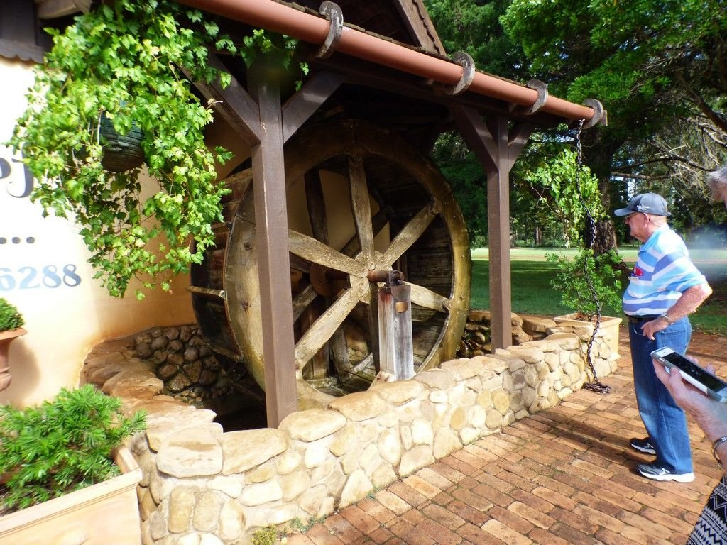 And a water wheel.