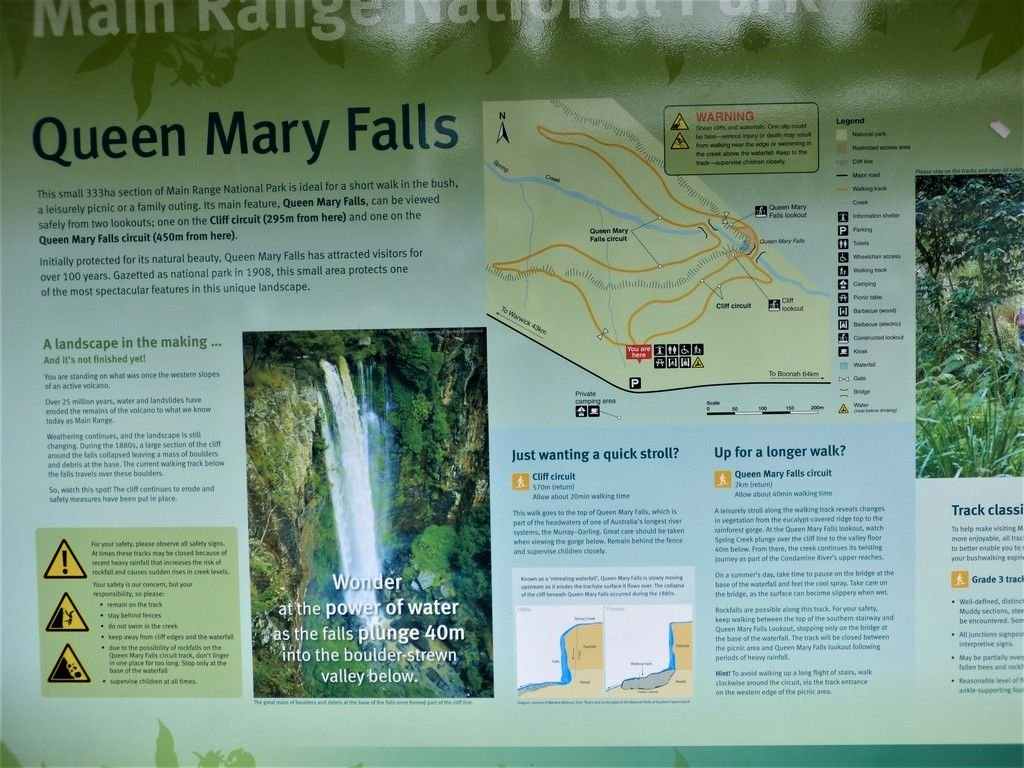 Queen Mary Falls are very close to the QLD/NSW border.