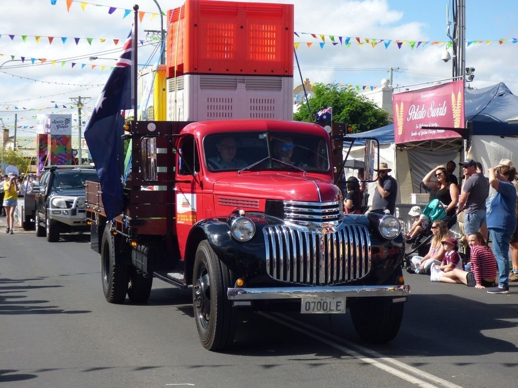 Yes, old trucks made it to the parade as well.