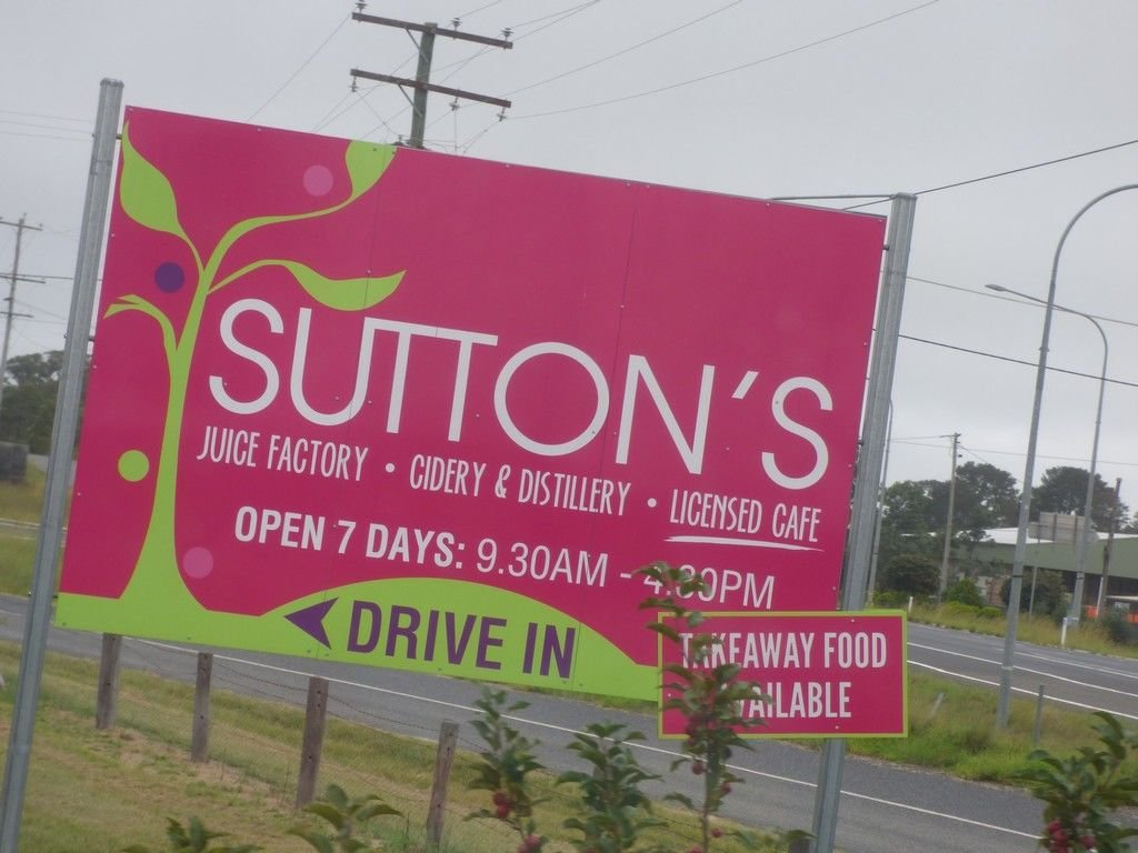 Sutton's! You can't go to Stanthorpe without sampling Sutton's juices and apple pies.