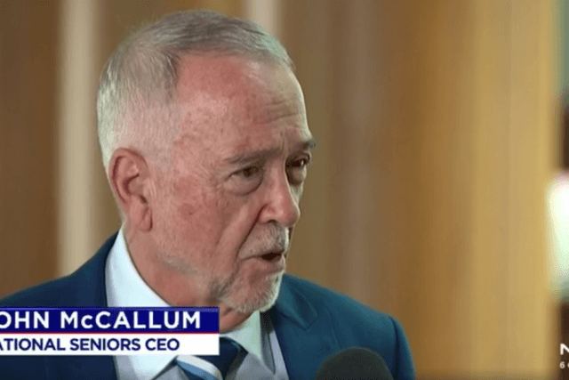 Professor John McCallum on 7 News discussing retirement living costs